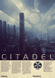 Mass Effect Citadel Vintage Poster by Titch-IX