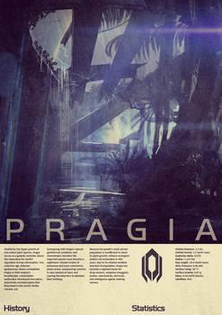 Mass Effect Pragia Vintage Poster