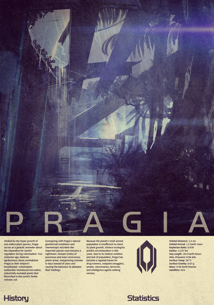Mass Effect Pragia Vintage Poster by Titch-IX