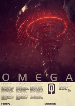 Mass Effect Omega Vintage Poster