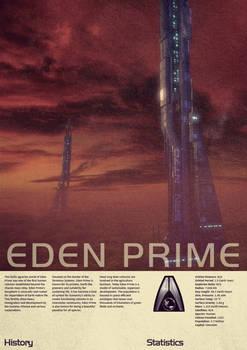 Mass Effect Eden Prime Vintage Poster