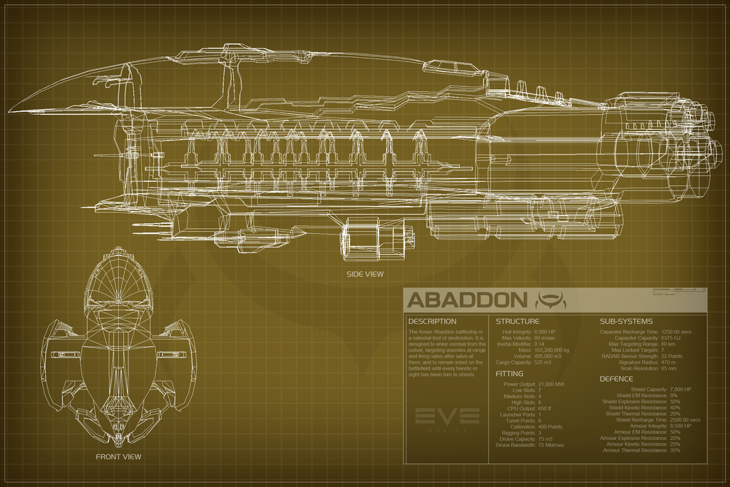 EVE Online Abaddon Schematic by Titch-IX on DeviantArt
