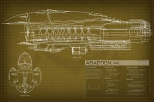 EVE Online Abaddon Schematic by Titch-IX