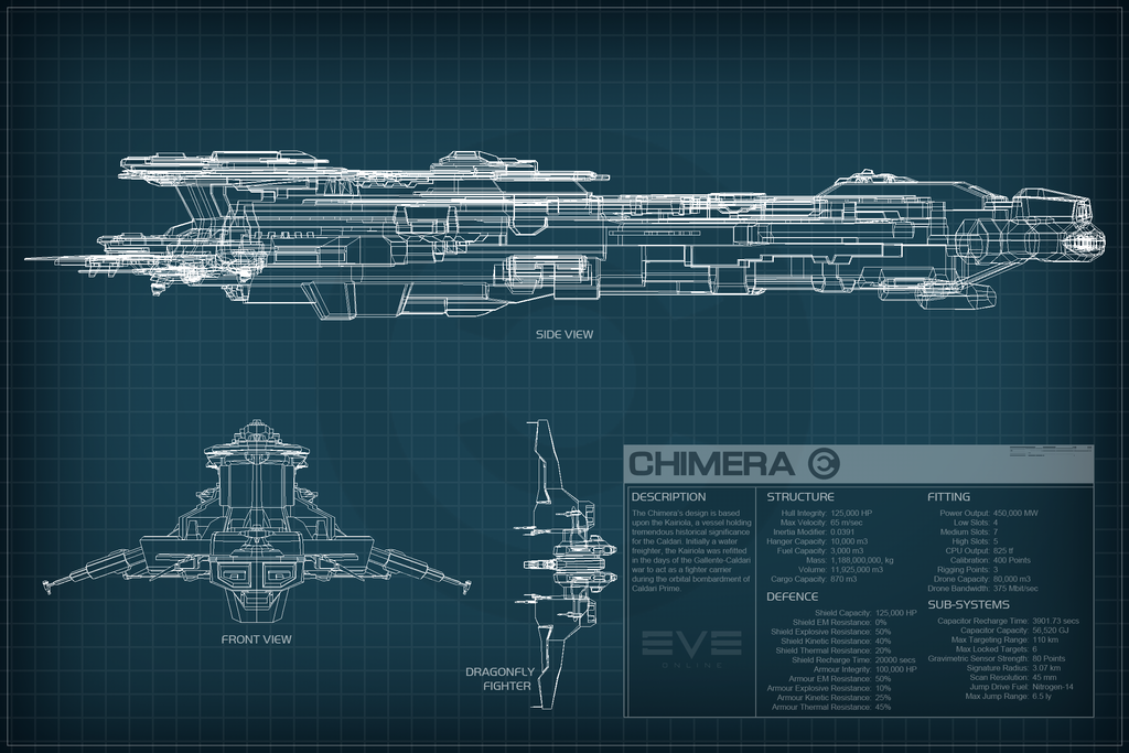 EVE Online Chimera Schematic by Titch-IX on DeviantArt