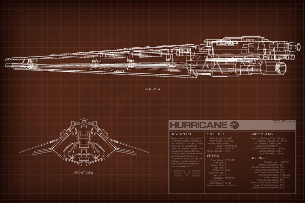 EVE Online Hurricane Schematic by Titch-IX