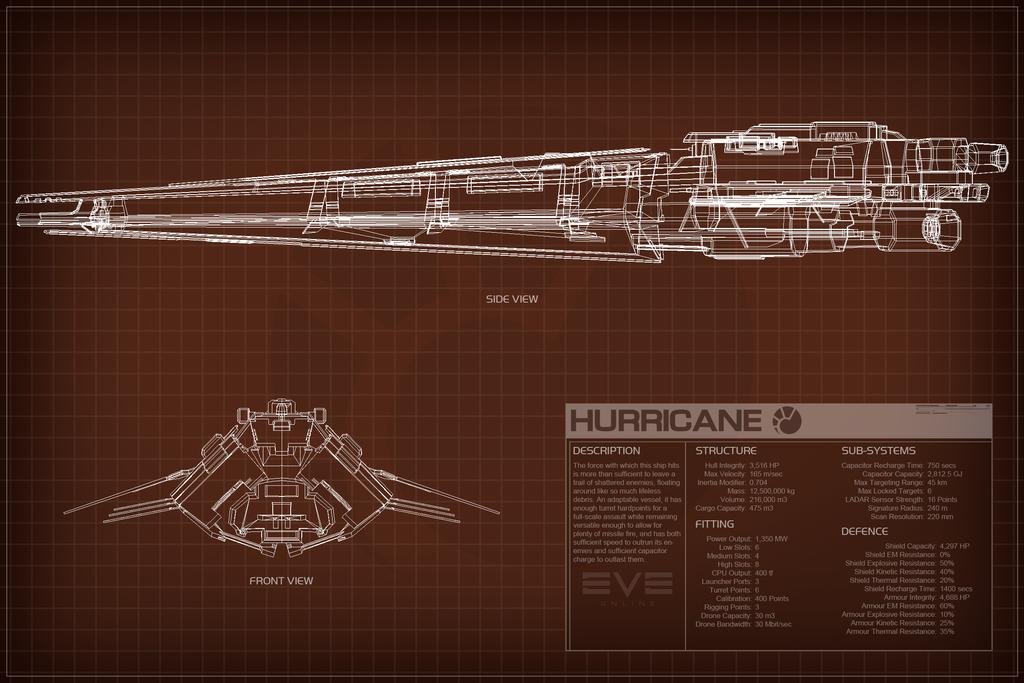 EVE Online Hurricane Schematic by Titch-IX