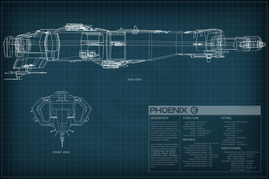 Eve Online Phoenix Schematic By Titch Ix On Deviantart