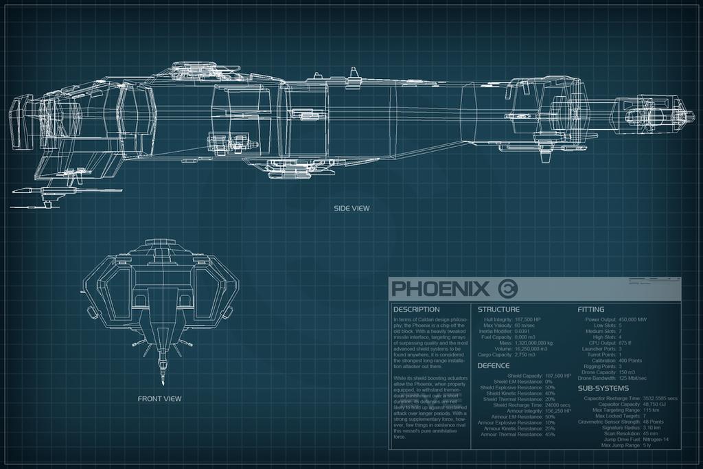EVE Online Phoenix Schematic by Titch-IX on DeviantArt