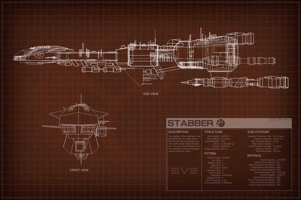 EVE Online Stabber Schematic by Titch-IX