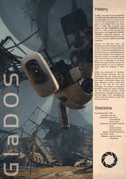 Portal Vintage Poster - GLaDOS