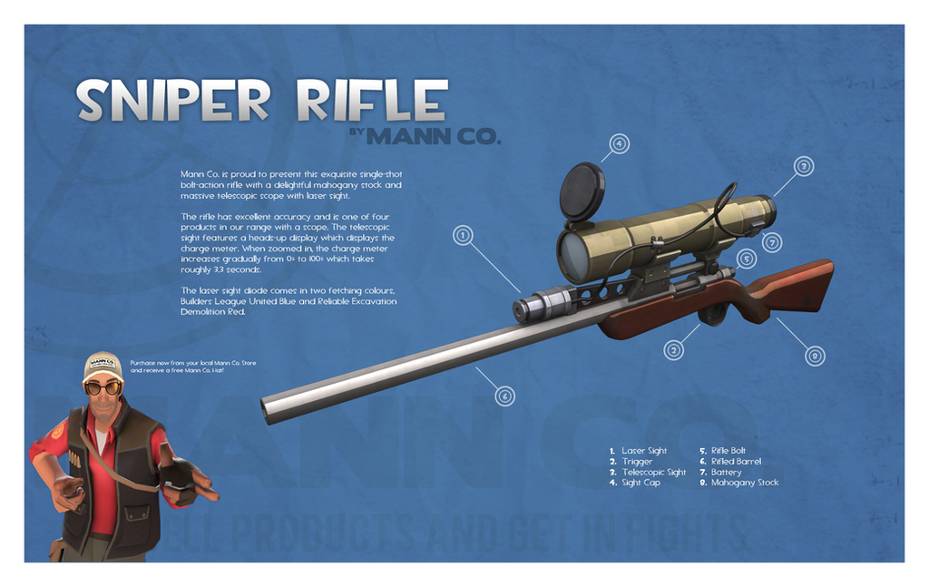 Team Fortress 2 Sniper Rifle By Titch IX