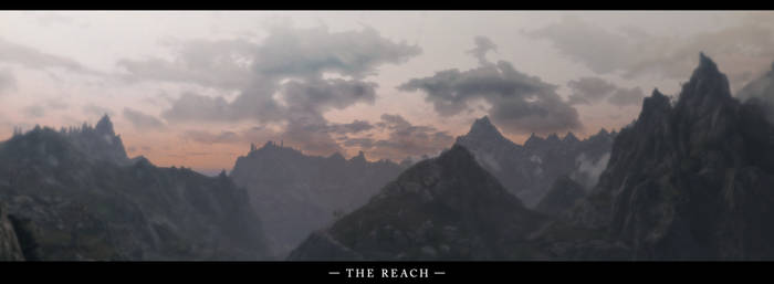 The Elder Scrolls V Skyrim The Reach Panorama