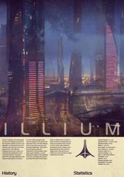 Mass Effect Illium Vintage Poster by Titch-IX