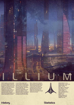 Mass Effect Illium Vintage Poster