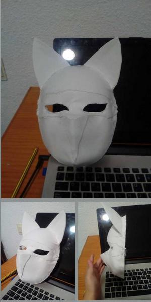 Kitsune mask (in process) by albimola
