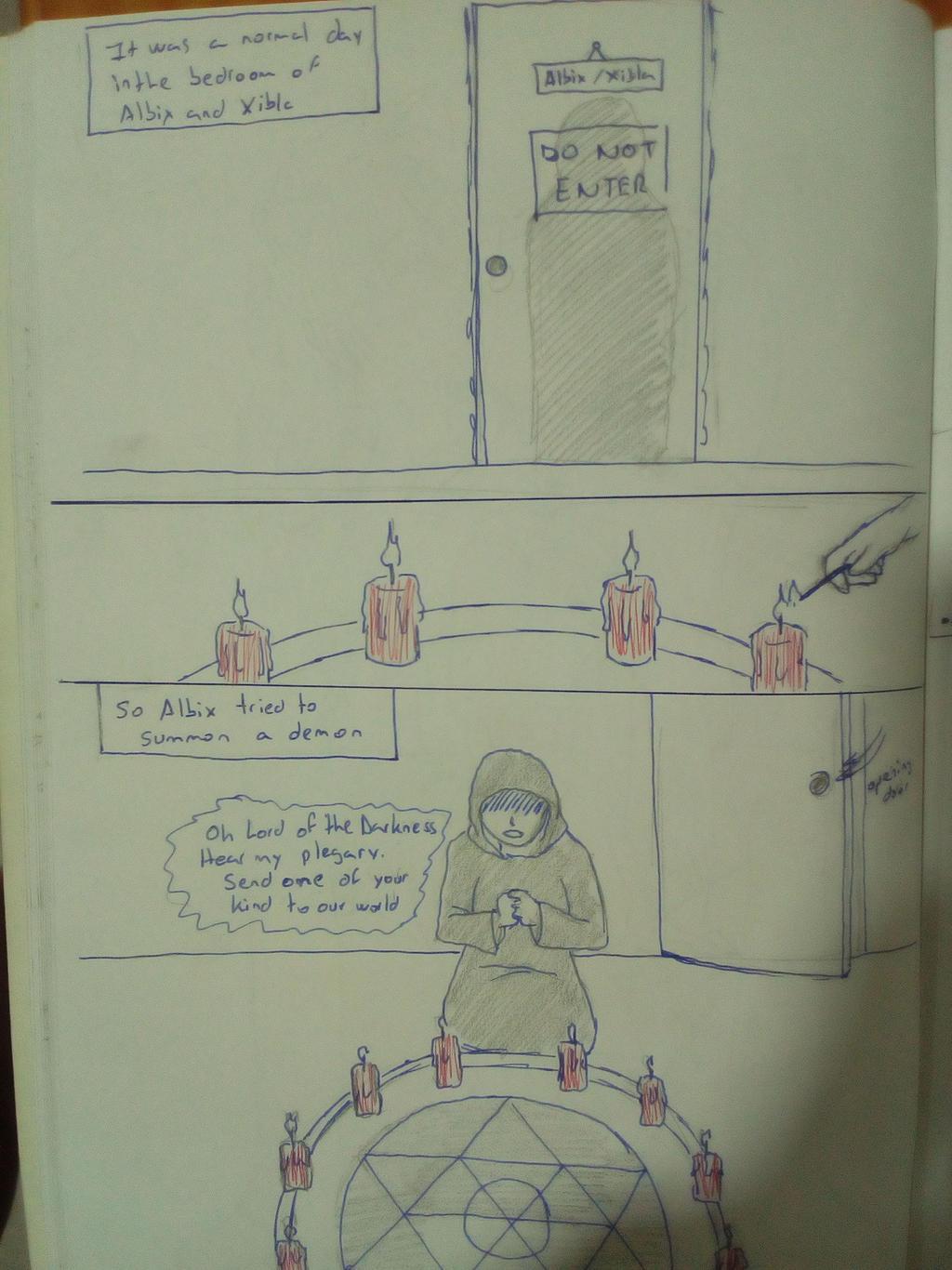 Mini comic: new oc (page 1) by albimola