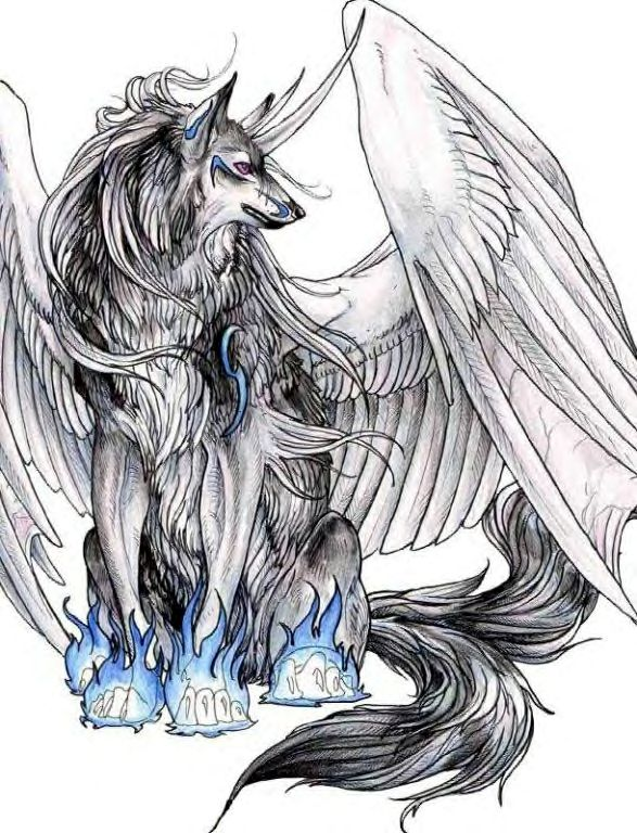 kewl wolf with wings by Forsaken-By-You on DeviantArt