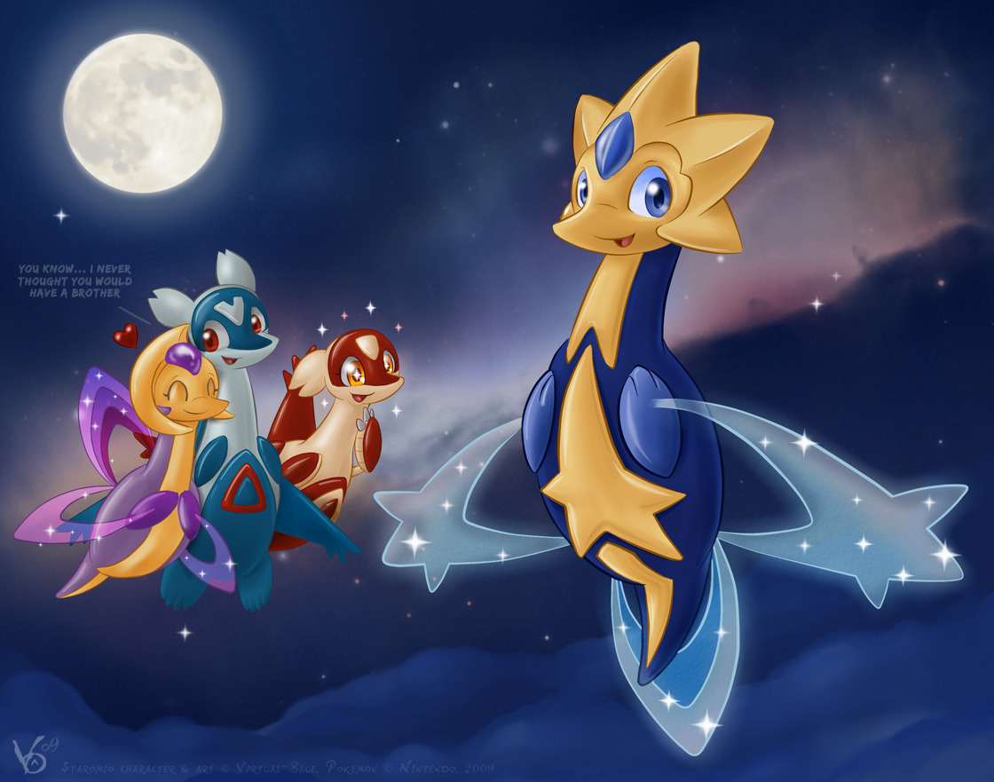 Staromio the starlight pokemon by Virtual-BluePokemon Shiny Cresselia