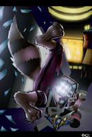 'Oh...YEAH...' Rocket Raccoon by kzmaster