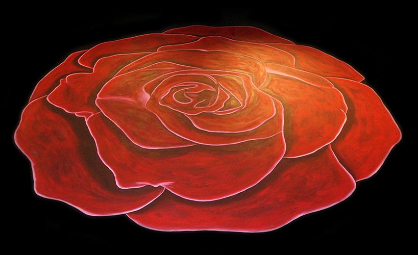 Rose Floor Mural by sonjatorres