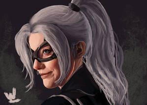 Black Cat Digital Painting from Spidey PS4 DLC