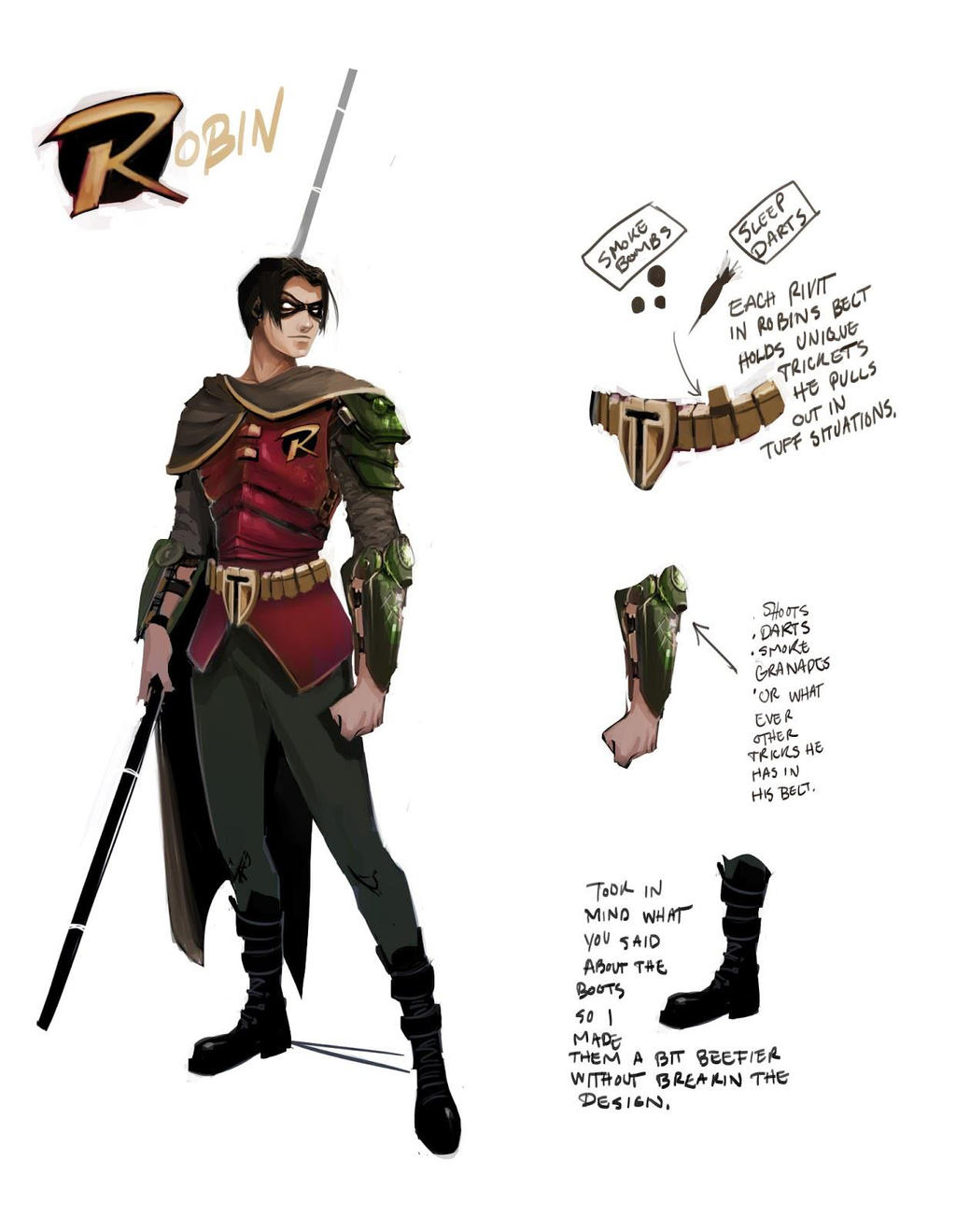 First Pass for Robin Costume Design by TTProject