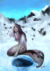 Frost mermaid by Dislexas