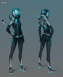 Space suit by Zaryuta