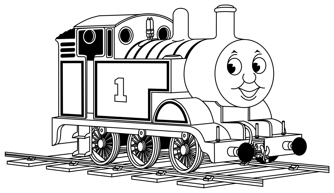 kleurplaat de trein percy de trein