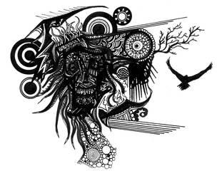 Skull Doodle by Viseral