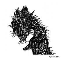 Blue Dragon Doodle