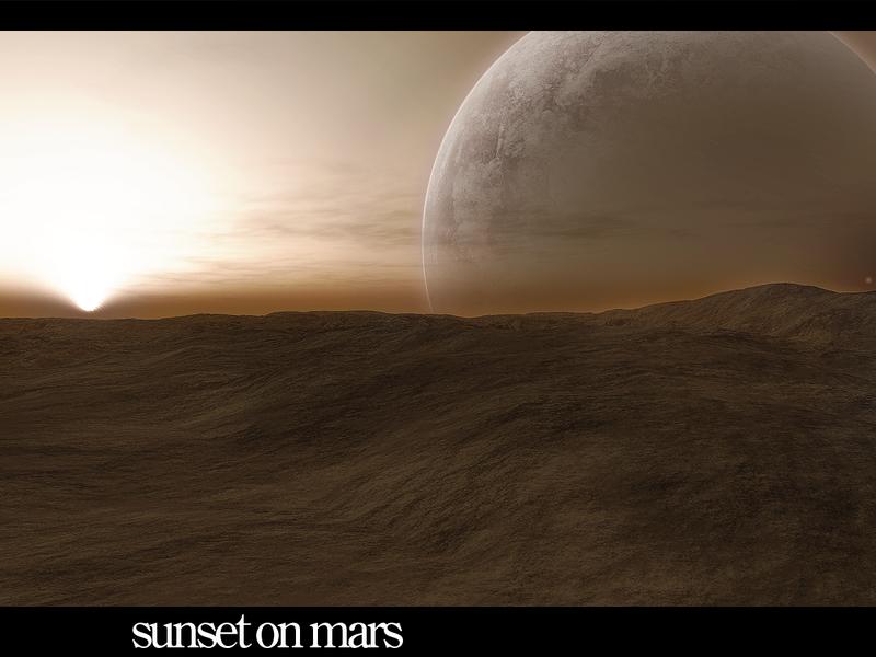 Sunset on mars by psychout on deviantart - Mars sunset wallpaper ...