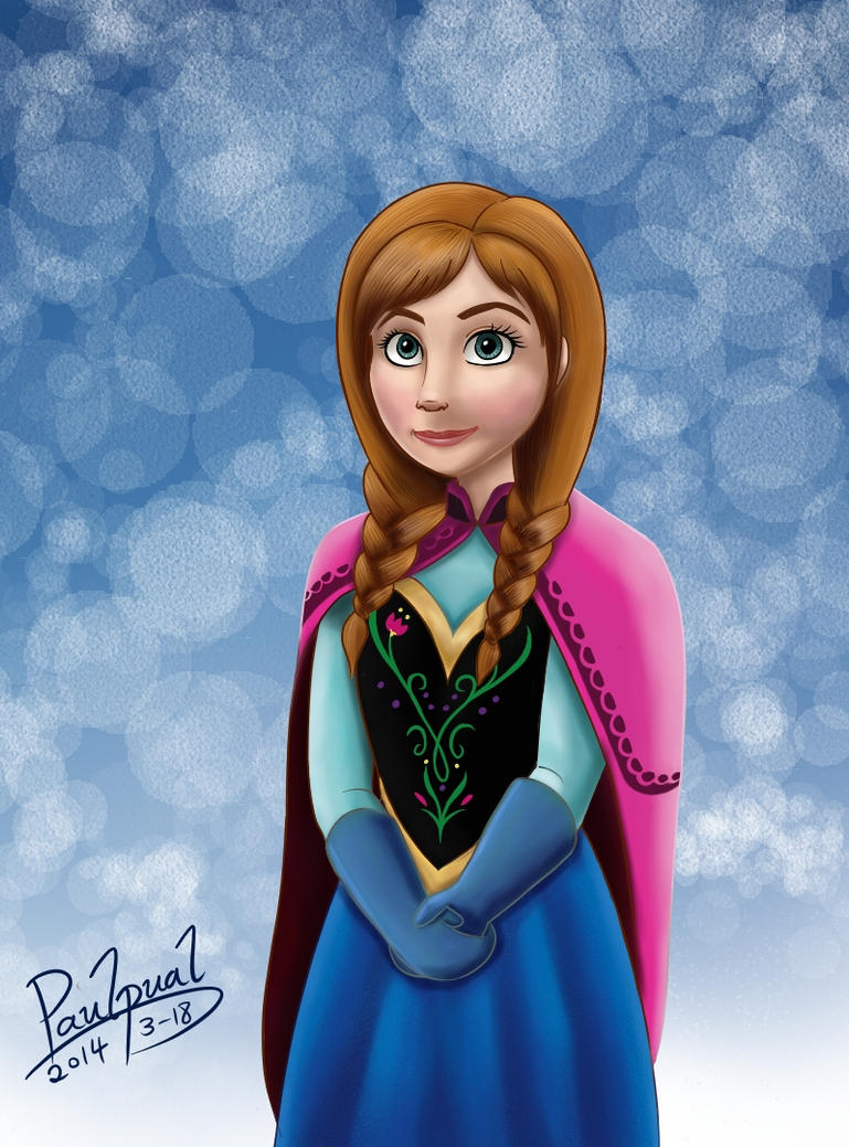 Frozen Anna-color by paulpual on DeviantArt