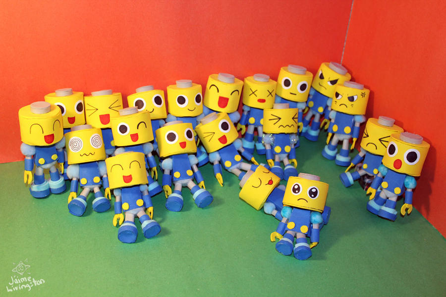 My Half-pint Servbot Army by MeMiMouse