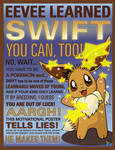 Eevee learned Swift! You can, too!