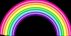 Lisa Frank Style Rainbow (Free to Use)