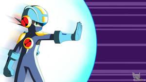 Megaman Barrier BattleChip Wallpaper (Combat) by Mega-X-stream