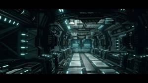 UE4 Modular Sci Fi Corridor Upgraded
