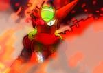 Ray in fire by J4zzRat