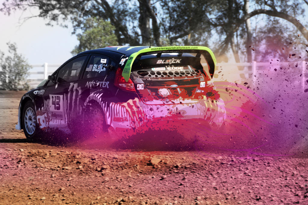 Ken Block Ford Fiesta Gymkhana By Darkstryder360 - Hot ... Gymkhana 5 Wallpaper