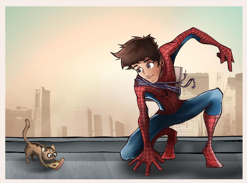 Spider Cat by abiestrikesagain
