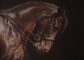 PASTELIZATOR horse head pastel