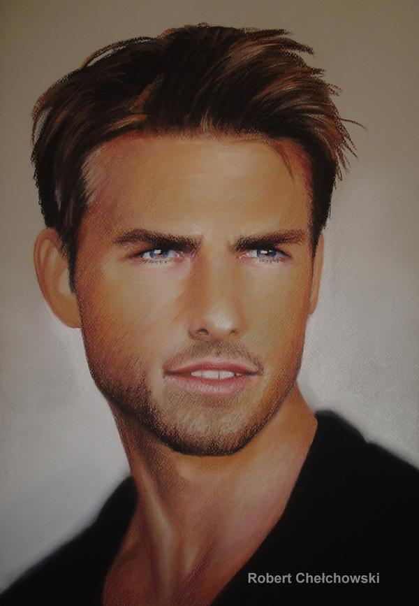 Tom Cruise pastel by PASTELIZATOR