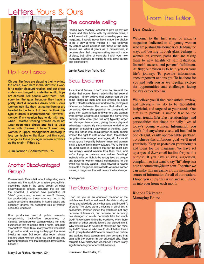 Magazine Page Layout by JennaLSommers on DeviantArt