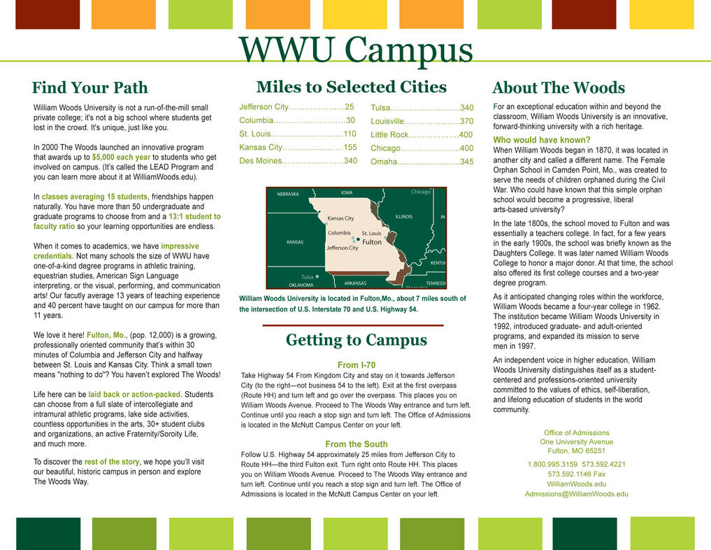 Campus Map for William Woods University by JennaLSommers on DeviantArt