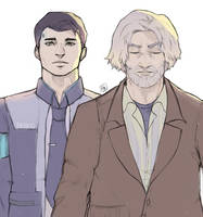 Hank and Connor by Pairly