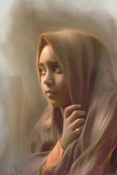 Sad Girl by P-R-OSad Woman Painting