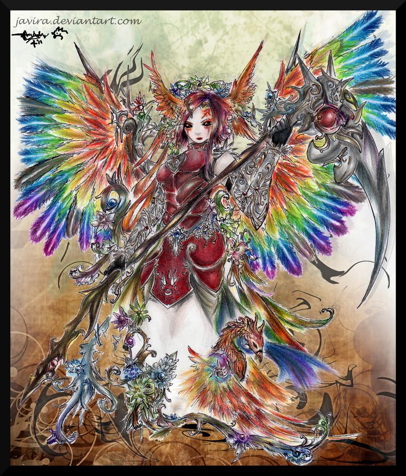 _. Angel of the Phoenix ._ by Javira