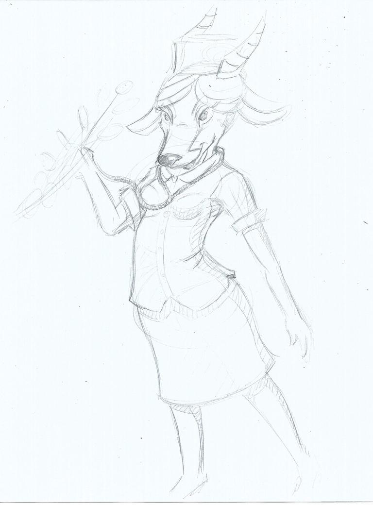 nurse gazelle sketch by darkaninesketches on deviantart