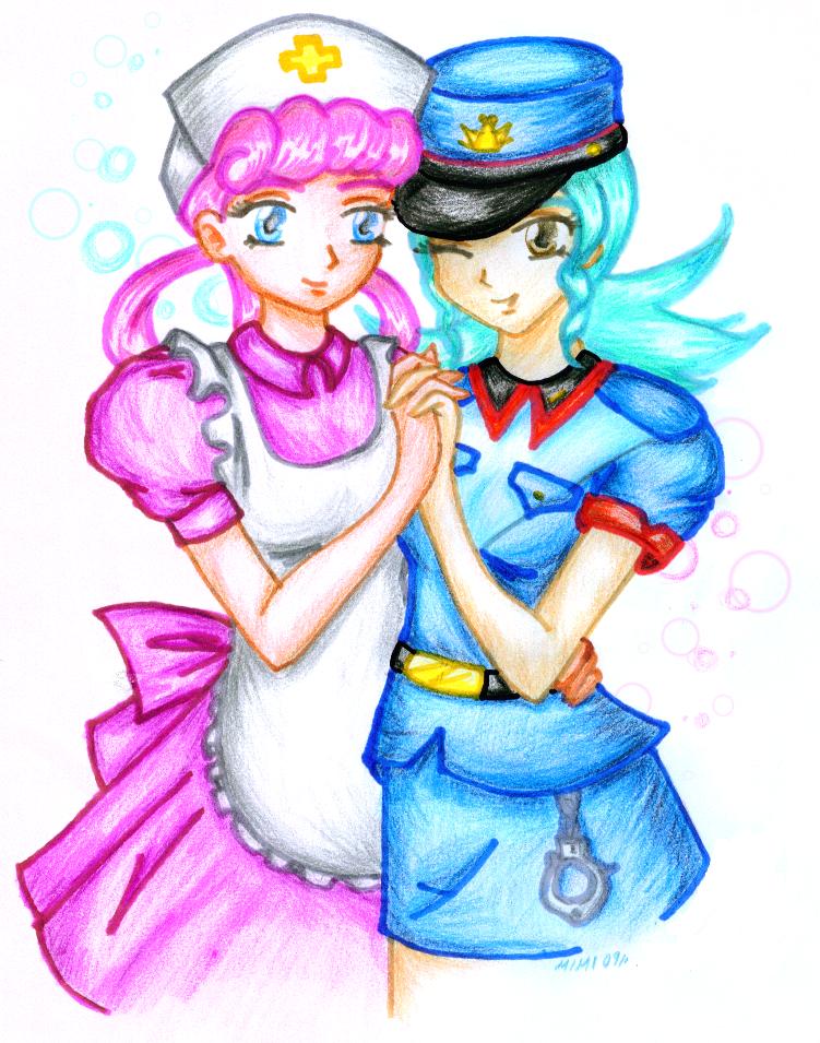 nurse joy and officer jenny by nursejoy7 on DeviantArt